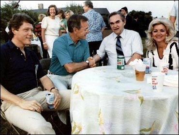 Clinton, Bush, Wallace and Lisa Taylor Wallace